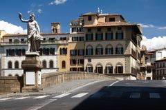 桥梁佛罗伦萨雕塑 免版税图库摄影