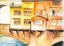 桥梁佛罗伦萨 库存图片