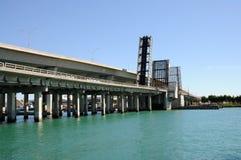 桥梁佛罗里达开放的迈阿密 库存图片