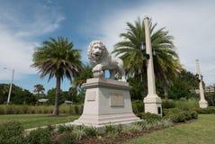 桥梁佛罗里达狮子 图库摄影