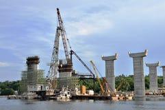 桥梁修建 库存图片