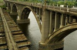 桥梁修理 库存照片