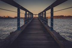 桥梁俯视 免版税库存图片