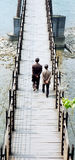 桥梁停止老 库存照片