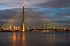 桥梁兆吊索泰国 库存照片