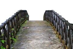 桥梁具体老 背景查出的白色 库存照片