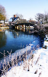 桥梁冬天 库存图片
