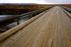 桥梁冰岛 免版税库存图片