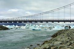 桥梁冰岛jokulsarlon 免版税库存照片