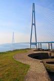 桥梁到Russky海岛。 库存图片