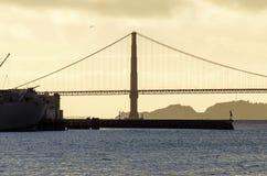 桥梁加利福尼亚弗朗西斯科门金黄圣 免版税图库摄影