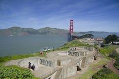 桥梁加利福尼亚弗朗西斯科门金黄圣&# 免版税图库摄影