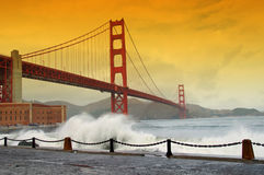桥梁加州弗朗西斯科门金黄圣美国 库存图片
