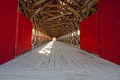 桥梁加拿大报道了魁北克wakefield 免版税库存照片