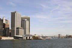 桥梁南布鲁克林的轮渡 库存照片