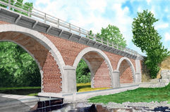 桥梁卡塔龙尼亚 库存图片