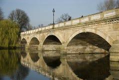 桥梁反映蛇纹石 免版税图库摄影