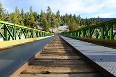 桥梁向单音温泉城 图库摄影