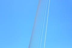 桥梁和天空摘要 免版税库存图片