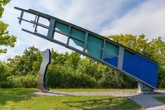 桥梁和鞋子片断从金属 库存照片