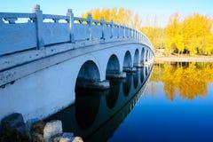 桥梁和水 库存照片