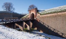 桥梁和tranch堡垒 免版税图库摄影