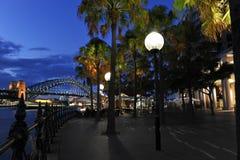 桥梁咖啡habour俯视的界面 库存图片
