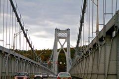 桥梁哈得逊河 免版税库存照片