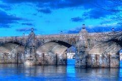 桥梁哈里斯堡市场宾夕法尼亚街道 免版税库存图片