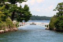 桥梁国际最短的世界 免版税图库摄影