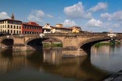 桥梁圣洁ponte圣诞老人trinita三位一体 免版税库存照片