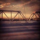 桥梁在亚利桑那沙漠菲尼斯 免版税图库摄影