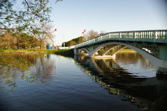 桥梁在公园 免版税库存图片