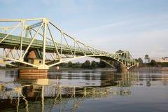 桥梁在利耶帕亚,拉脱维亚 库存照片