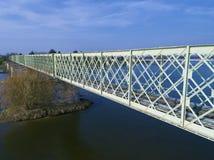 桥梁在卢瓦尔河畔叙利,卢瓦雷省 库存照片
