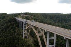 桥梁在古巴 库存照片