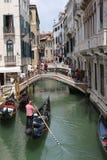 桥梁在威尼斯意大利 库存照片