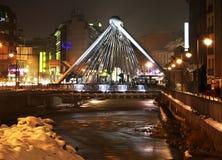 桥梁在安道尔城 andre 免版税库存照片