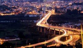 桥梁在晚上之前 免版税图库摄影
