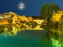 桥梁在普拉托,托斯卡纳,意大利, 库存照片