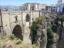 桥梁在朗达在西班牙 库存照片