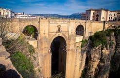 桥梁在朗达西班牙 图库摄影