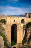 桥梁在朗达西班牙 免版税库存图片