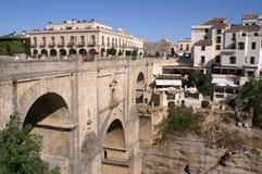 桥梁在朗达,西班牙 库存照片