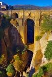 桥梁在朗达 库存照片