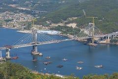 桥梁在比戈,西班牙 免版税库存照片