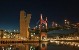 桥梁在毕尔巴鄂 库存照片