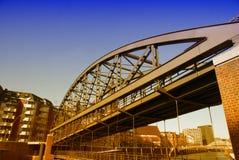 汉堡和它的桥梁 图库摄影