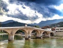 桥梁在波斯尼亚 免版税库存图片
