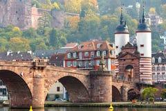 桥梁在海得尔堡,德国 库存图片